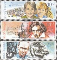 Belgien 2439-2441 (kompl.Ausg.) postfrisch 1990 Jugend und Musik