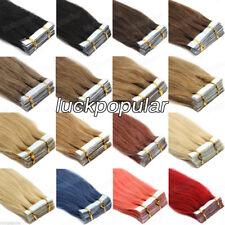 "Seamless PU Skin Weft Tape in Remy Human Hair Extensions16""-26""20-40Pcs Style 7A"
