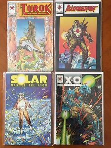 Valiant Comics Set of 4 - Turok #1, Bloodshot #1, Solar #1 & X-O Manowar #0B