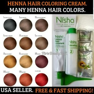 HENNA BURGUNDY HAIR COLORING CREAM DYE GRAY & WHITE HAIR MANY COLORS WOMEN&MEN