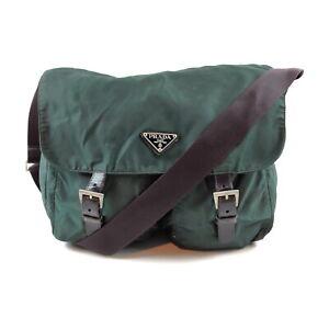 Prada Shoulder Bag  Greens Nylon 2402345