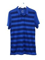 NWT Nike Golf Dri-Fit Blue Stripes Short Sleeve Polo Shirt AR2581-480 Men Sz S