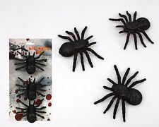 Décoration D'Halloween Paquet de 3 Noir Pailleté Araignées Accessoire Araignée
