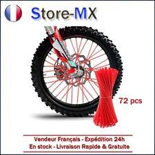72pcs Couvre Rayons 23cm Moto Motocross Dirt Bike Jante Rayon Roue Cross ROUGE
