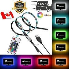 5V USB LED Light RGB 5050 60Led 3M Controller Led Strip Tape Lamp TV Backlight