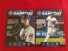 2018 MLB Chicago Cubs Game Day program + schedule / You pick 'em / Baez / Bryant