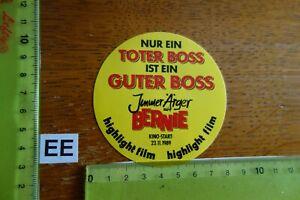 Alter Aufkleber Bühne Film Kino Video IMMER ÄRGER MIT BERNIE 1989