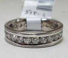 Channel Set Eternity Band Ring 6.25'' 14k White Gold 1.44ctw Round Diamond
