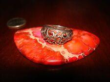 Beautiful Vintage Sterling Silver Filigree Ring.925 Sz-5