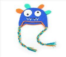 Handmade Newborn Crochet Monster Costume Hat Baby Photo Prop 6mos-2yrs