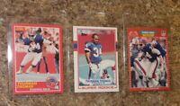 (3) Thurman Thomas 1989 Score Topps  Pro Set Rookie Card Lot RC Bills HOF