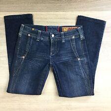 Notify Sagina Straight Slim Dk Blue Women's Jeans Size 28 Fit W30 L 29 (U11)