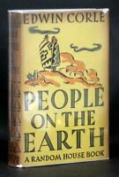 Edwin Corle Signed First Edition 1937 People on the Earth Navajo Novel HC w/DJ