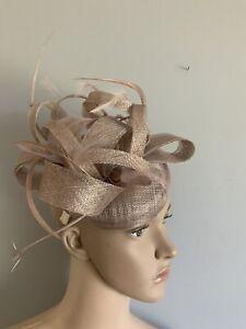 NEW Nude Beige Headband Wedding Fascinator Race Day Accessories