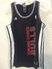 Adidas Women's NBA Jersey CHICAGO Bulls Derrick Rose Black Vertical sz M