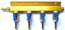 4 Way Air Manifold  HEAVY DUTY SHUTOFFS - Kegerator Parts Home Beer tap -1744