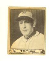 1940 Play Ball  #231 Dolf Luque Cincinnati Reds High Number VG slight crease