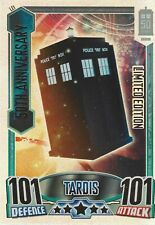 Doctor Who 50th Anniversary Alien Attax Limited Edition Card LE1 TARDIS Good+
