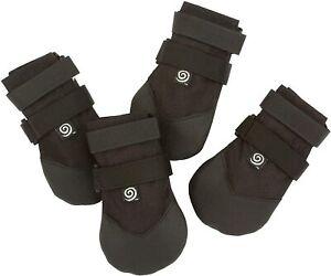 "Ultra Paws Rugged Dog Boots, Black - Size Medium 2.75"""