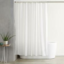 "71""x71"" Polyester Microfiber Waterproof Shower Curtain With Hooks White"