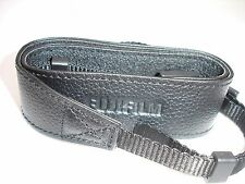 "FUJI FUJIFILM CAMERA NECK STRAP  Black 1 1/4 "" Wide, New condition #001484"