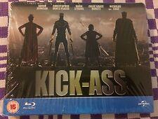 KICK-ASS Blu-ray STEELBOOK - REGION FREE - UK PLAY.COM EXCLUSIVE - BRAND NEW