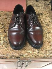 Vintage Hanover Shell Cordovan PTB Plain Toe Blucher Shoes 9C Brown Burgundy