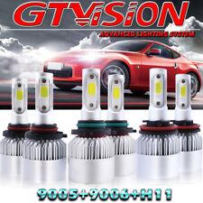 9005 9006 H11 LED Headlight + Fog Bulbs For Honda Accord 2008-2012 Civic 2006-13
