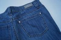 CAMBIO Damen stretch Hose Jeans Gr.42 L30 stonewashed blau mit straßsteine AD6