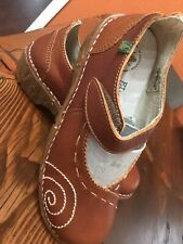 EL NATURALISTA Iggdrasil Mary Jane Flats Women's EU 36 US 6 Brown Leather Shoes