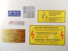 Porsche 924 2.0L N/A Under Bonnet Engine Bay Decal Sticker Set
