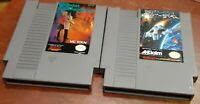 Nintendo NES The Mafat Conspiracy & Destination Earthstar cleaned & tested