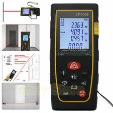 100M /328ft Digital Lcd Laser Distance Meter Range Finder Measure Tape Tool Fast