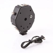 3 Head Triple Hot Shoe Mount 3-in-1 Adapter Speedlite Flash Light Bracket Holder