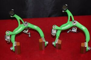Dia-Compe MX 901 Brake Caliper Set green old school bmx STAMPED 1986 Japan NOS