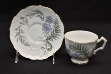 Aynsley Fern Blue Flower Cup & Saucer