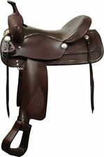 "16"" Double T Trail Style Saddle. Semi QH Bars"