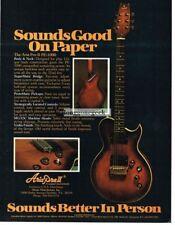 1978 Aria Pro II PE-1000 Electric Guitar Vintage Ad