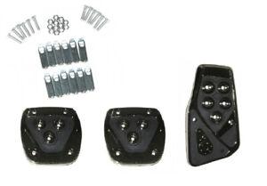 3X Universal Pedal Set Pedal Caps Sport Pedals Black