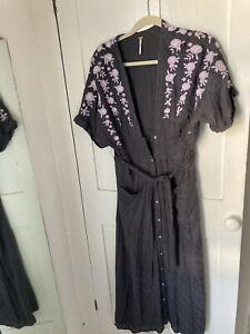 Free People Boho Embroidered Dress Size M