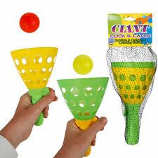 2er Set Wurf/Fangbecherspiel mit 2 Bällen Kinderspielzeug Wurfspiel Outdoor