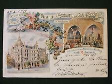 Ak Halle, Grand-Restaurant u. Café Reichshof, verb. mit zum Rebstock, 1900 gel.