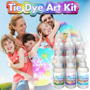 Tie Dye Kit Set of 9 Colours Ink Tie-Dye Kits for Dyeing Fabric Clothes 90pc Set