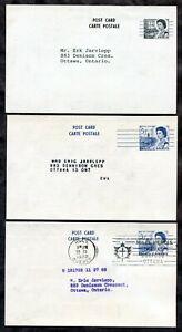 370 - Canada Lot of (3) Centennial Precancel Postal Cards