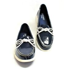 Sperry Top-Sider Oasis Canal Women 9 40 Lace-Up Boat Shoes Patent Blue NEW