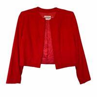 VINTAGE Pendleton Petite Womens Red Wool Jacket Blazer.