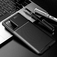Coque pour Samsung Galaxy S20 Fe Étui Original Carbone + Verre Trempé 9H