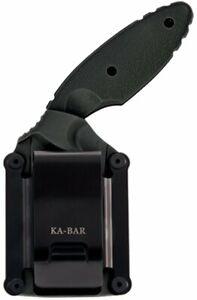 KA-BAR Hard Plastic Sheath + Belt Clip for TDI, for 1477 1480 1481, Black #1480S