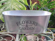 Galvanized Tin Flowers & Garden Vintage Style Country French Holder Wedding
