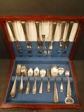 WM Rogers Silver Tulip Pattern Silver Plate Flatware/Silverware Set 62 Pieces